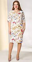 Платье Golden Valley-4378/1 с цветочным принтом белорусский трикотаж
