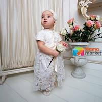 Платье для крещения Mimino Лиза, цвет молочный