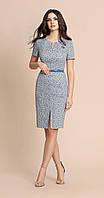 Платье Bazalini-2717 белорусский трикотаж из ткани Хлопок цвета серо-синий