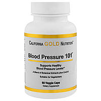 California Gold Nutrition, Targeted Support, Blood Pressure 101, 60 растительных капсул