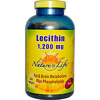 Nature's Life, Лецитин, 1200 мг, 250 мягких желатиновых капсул