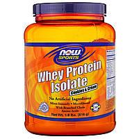 Now Foods, Изолят сывороточного протеина, печенье со сливками, 1,8 фунта (816 г)