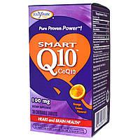 Enzymatic Therapy, Smart Q10, CoQ10, Orange Cream Flavored, 100 мг, 30 жевательных таблеток