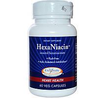 Enzymatic Therapy, ГексаНиацин, 590 мг, 60 растительных капсул