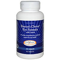 Enzymatic Therapy, «Выбор врачей», формула для глаз, с лютеином, 90 таблеток