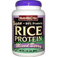NutriBiotic, Рисовый белок, со смесью ягод, 1 фунт 5 унций (600 г)