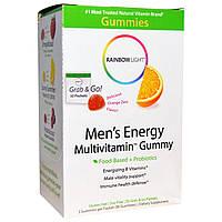 Rainbow Light, Men's Energy Multivitamin Gummy, Orange Zest Flavor, 30 Packets