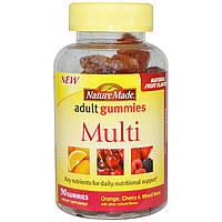 Nature Made, Жевательные витамины для взрослых, мульти витаминный комплекс, 90 жевательных таблеток