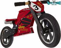 """Беговел 12"""" Kiddimoto Heroes деревянный, с автографом Joey Dunlop TT"""