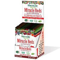 Macrolife Naturals, Miracle Reds, антиоксидантная добавка для сердца, 12 пакетиков, 4 унции (112,8 г)