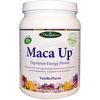 Paradise Herbs, Maca Up, вегетарианский энергетический белок, со вкусом ванили, 15,94 унции (452 г)