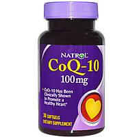 Natrol, Коэнзим Q-10, 100 мг, 30 гелевых капсул