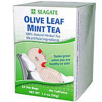 Seagate, Мятный чай с оливковыми листьями, 24 чайных пакетика, 1,3 унции (36 г)