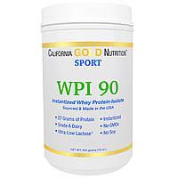 California Gold Nutrition, Быстрорастворимый изолят сывороточного протеина, минимальное содержание лактозы, без ароматизаторов, 16 унций (454 г)