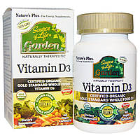 Nature's Plus, Nature's Plus, Source of Life, Garden, витамин D3, 60 вегетарианских капсул