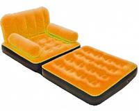 Велюр-кресло Bestway 67277 BestWay оранжевый раскладное, 193-102-46см