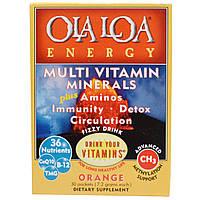 Ola Loa, Мульти витамины и минералы для энергии с апельсиновым вкусом, 30 пакетов, (7.2 г) каждый