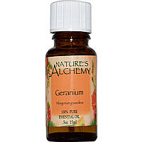 Nature's Alchemy, Эфирное масло герани, 0.5 унции (15 мл)