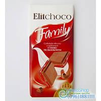 Шоколад Молочный С Клубничной Начинкой Elitchoco Family 100Г