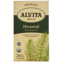 Alvita Teas, Organic, чай из хвоща, без кофеина, 24 чайных пакетика по 1,69 унции (48 г) каждый