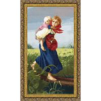 Набор для вышивки крестом Золотое Руно МК-033 Дети, бегущие от грозы