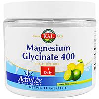 KAL, Magnesium Glycinate 400 ActivMix, 400mg, 11.1oz