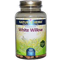 Nature's Herbs, Белая ива, 100 капсул