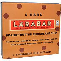 Larabar, Батончик с шоколадом и арахисовым маслом, 5 шт, 1.6 унций (45 г) каждый