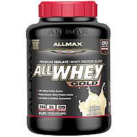 ALLMAX Nutrition, AllWhey Gold, премиум-изолят/смесь сывороточного протеина, французская ваниль, 2 фунта (907 г)