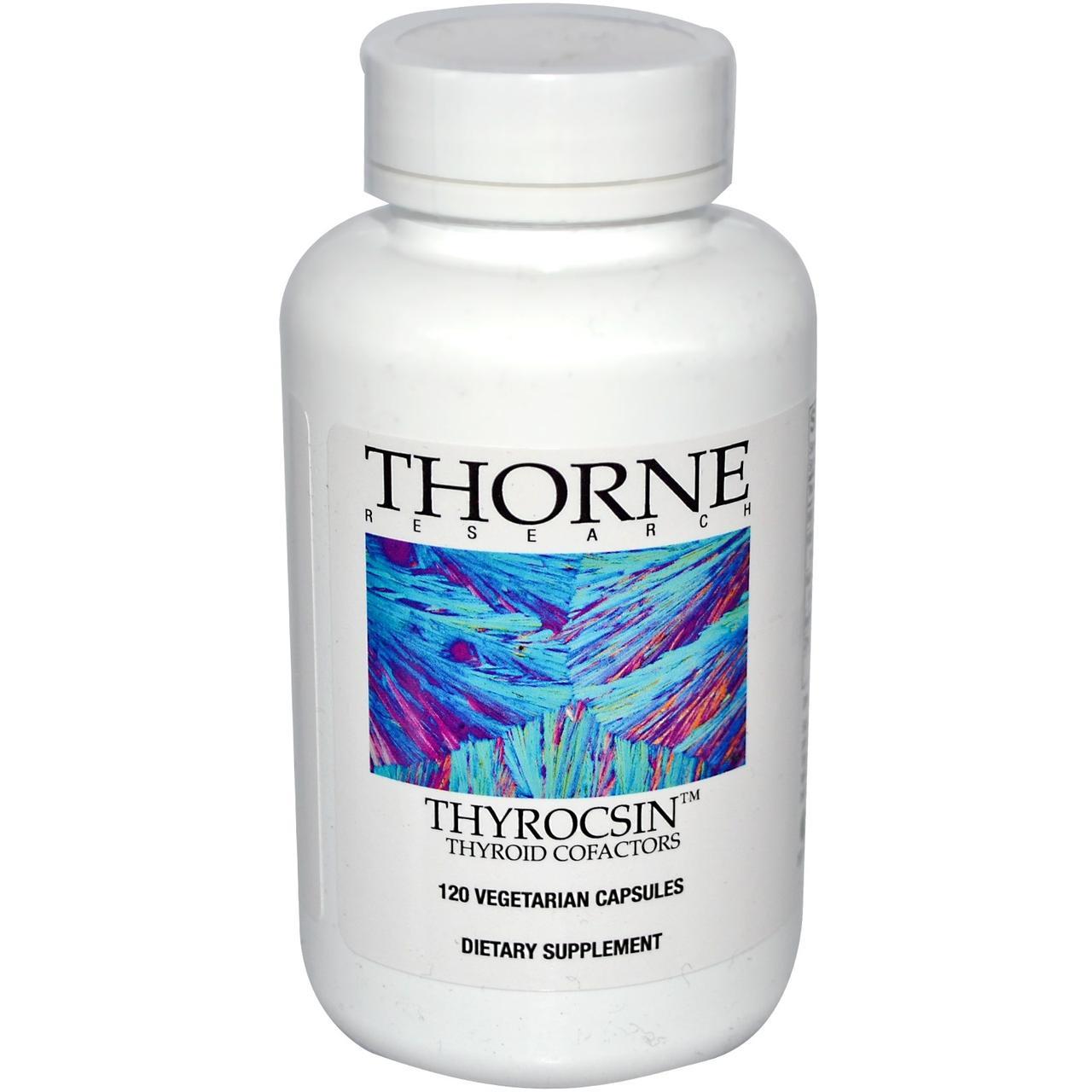 Thorne Research, Thyrocsin, Кофакторы щитовидной железы, 120 капсул в растительной оболочке - ⭐FREELIFE⭐ интернет-магазин натуральных препаратов для здоровья №➀ в Украине в Киеве