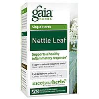 Gaia Herbs, Лист крапивы, 60 жидких фито-капсул на растительной основе