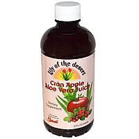 Lily of the Desert, Сок алоэ вера со вкусом клюквы и яблока, 32 жидк. унц. (946 мл)