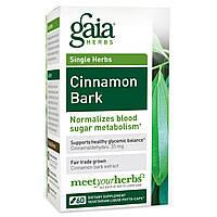 Gaia Herbs, Кора коричного дерева, 60 жидких капсул на растительной основе