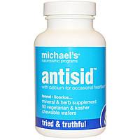 Michael's Naturopathic, Antisid, 90 вегетерианских жевательных вафель