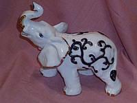 Слон фарфоровый с кобальтом 19,5х20х12 см