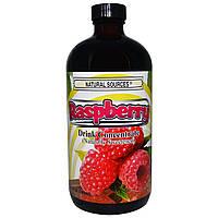 Natural Sources, Концентрированный напиток из малины, С натуральными подсластителями, 16 унций (480 мл)