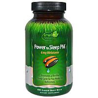Irwin Naturals, Мощь для сна ПМ, 60 мягких желатиновых капсул с жидким наполнением
