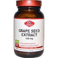 Olympian Labs Inc., Экстракт виноградных косточек, 120 мг, 100 вегетарианских капсул