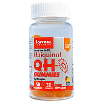 Jarrow Formulas, Желатиновые конфеты Убикинол КьюЭйч, без сахара, вкус манго, 50 мг, 30 желатиновых конфет