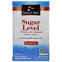 Bravo Teas & Herbs, Inc., Уровень сахара с белой шелковицей. Травяной чай, 20 чайных пакетиков, 1,06 унции (30 г)