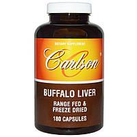 Carlson Labs, Печень буйвола, 180 капсул