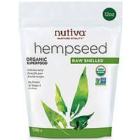 Nutiva, Органические очищенные семена конопли, 12 унций (340 г)