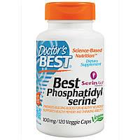 Doctor's Best, Фосфатидилсерин Best, 100 мг, 120 растительных капсул