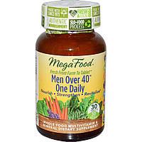 """MegaFood, Для мужчины старше 40 лет, """"Одна в день"""", формула без железа, 30 таблеток, официальный сайт"""