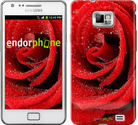 "Чехол на Samsung Galaxy S2 Plus i9105 Красная роза ""529c-71"""