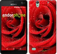 "Чехол на Sony Xperia C4 Красная роза ""529c-295"""