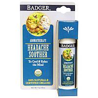 Badger Company, Средство от головной боли, Мята и лаванда, ,60 унции (17 г)