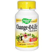Nature's Way, Пищевая добавка «Изменение жизни», смесь 7 трав, 440 мг, 100 капсул