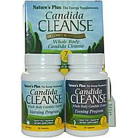 Nature's Plus, Очищение от кандиды, программа на 7 дней, 2 бутылочки по 28 капсул