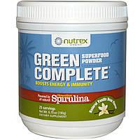 Nutrex Hawaii, Суперпитательный порошок Green Complete, с натуральным вкусом ванильных бобов, 6.70 унций (190 г)